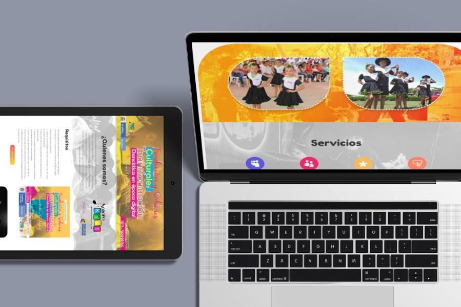 diseño de pagina web joropo kids Villavicencio