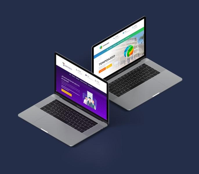 Diseño web y diseño de logo y marca tempoaseo tempometa villavicencio