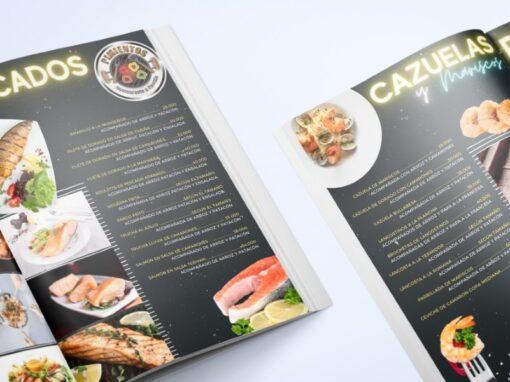 Restaurante Pimientos – Diseño de Menu