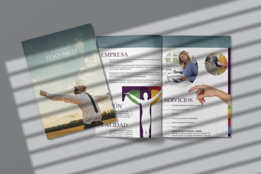 diseño de portafolio broshure brochure para empresas